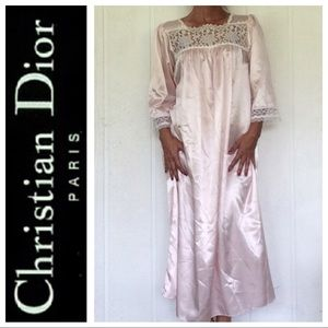 DIOR BLUSH PINK FULL LENGTH SATIN NIGHTGOWN SMALL